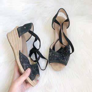 UGG Black Espadrille Lace Up Sandal SZ 7.5